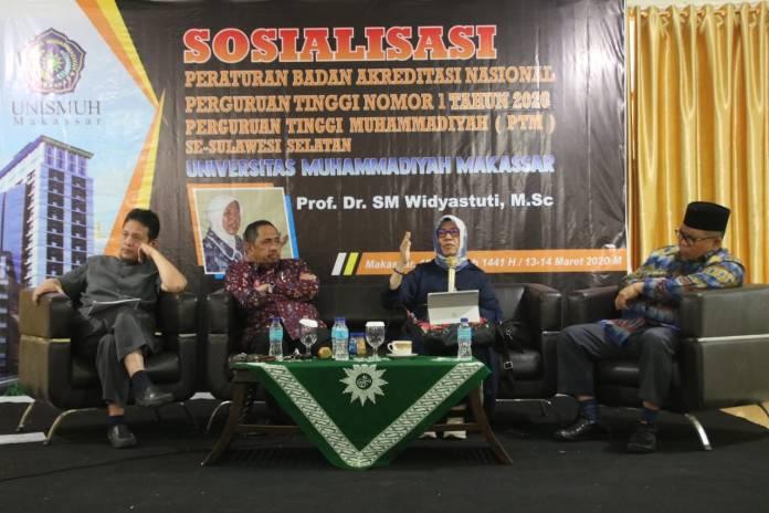 Sikapi Kampus Merdeka, Unismuh Makassar Gelar Sosialisasi Peraturan BAN-PT