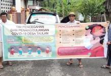 Relawan Tanggap Covid-19 Desa Taulan Enrekang Mulai Terbentuk