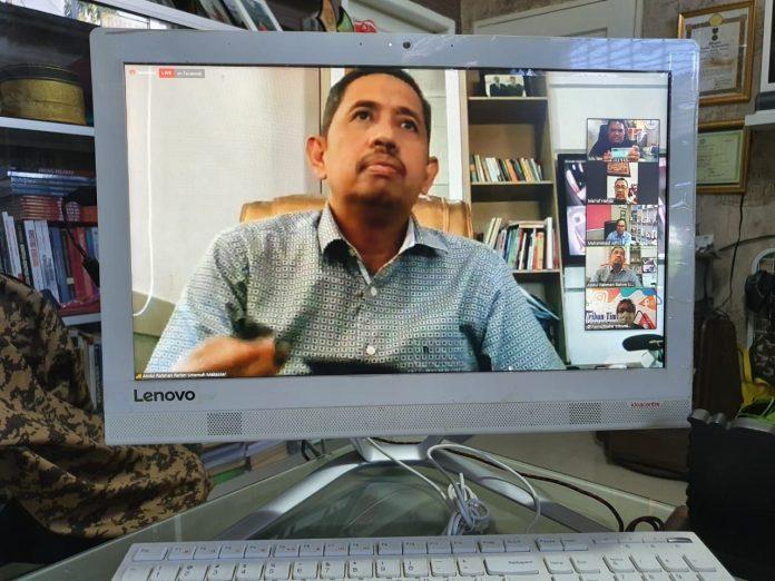 Prof A Rahman, Pemantik Dialog Virtual Seri 2 Forum Dosen Sulsel Soal Arah Kebijakan Belajar Daring Covid-19