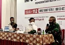 Rapat persiapan penerapan Perwali 36 di Posko Gugus Tugas Kota Makassar