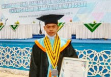 Putra Asal Wajo Wisudawan Terbaik Pascasarjana Unismuh Makasaar 2020 dengan IPK 4.00