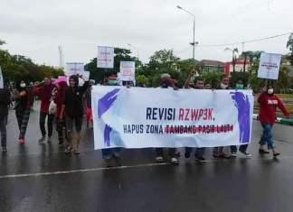 Jalan Kaki ke DPRD Sulsel, Ratusan Warga Kodingareng Tuntut Revisi RZWP3K Zona Tambang di Wilayah Tangkap Nelayan