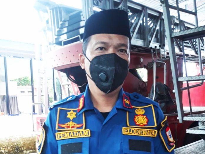 Kepala Dinas Damkar Kota Makassar, Elodewata Wahid.