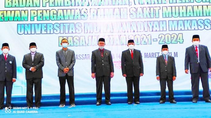 Kabinet Rektor Unismuh Prof Ambo Asse Diisi Tiga Wajah Lama dan Satu Wajah Baru