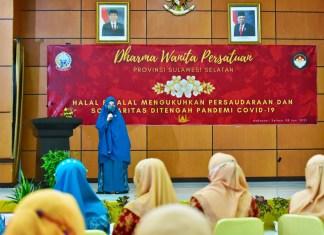Halal Bihalal Dharma Wanita Persatuan Sulsel, Naoemi: Hilangkan ego dan terus bekerja bersama untuk kemaslahatan umat