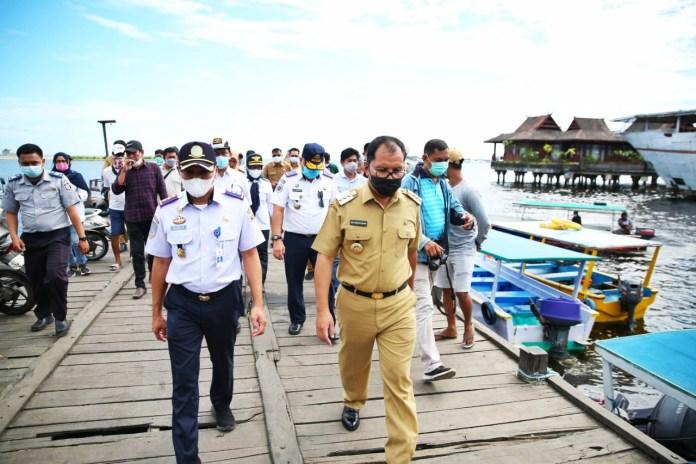 Danny Dorong Percepatan Pembangunan Pelabuhan Penyebarangan Lintas Provinsi Dermaga Pannyua