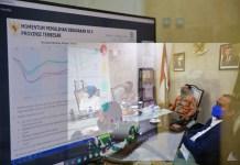 Didampingi Forkopimda, Danny Hadiri Rakor Evaluasi PPKM Mikro Bersama 34 Kepala Daerah Se Indonesia