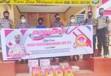 Peringati Hari Bhayangkara, Polsek Manggala Anjangsana ke Panti Asuhan