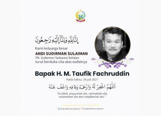 Plt Gubernur Sulsel sampaikan Belasungkawa Atas Meninggalnya Taufik Fachruddin
