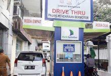 Drive Thru Samsat Makassar. (Foto: Dok)