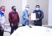 Kepala BPPMPV KPTK Temui Abdul Hayat, Ijin Gunakan Aset Pemprov Sulsel