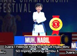 Muh. Nabil, Karateka Cilik Gojukai Komplek Unhas Biring Romang Berhasil Harumkan Makassar