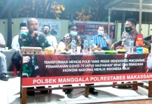 Kapolsek Manggala Ajak Ketua LPM Kelurahan Satu Frekwensi