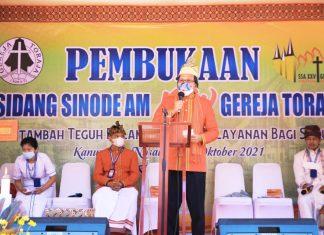 Walikota Danny Hadiri Pembukaan Sidang Sinode AM XXV Gereja Toraja