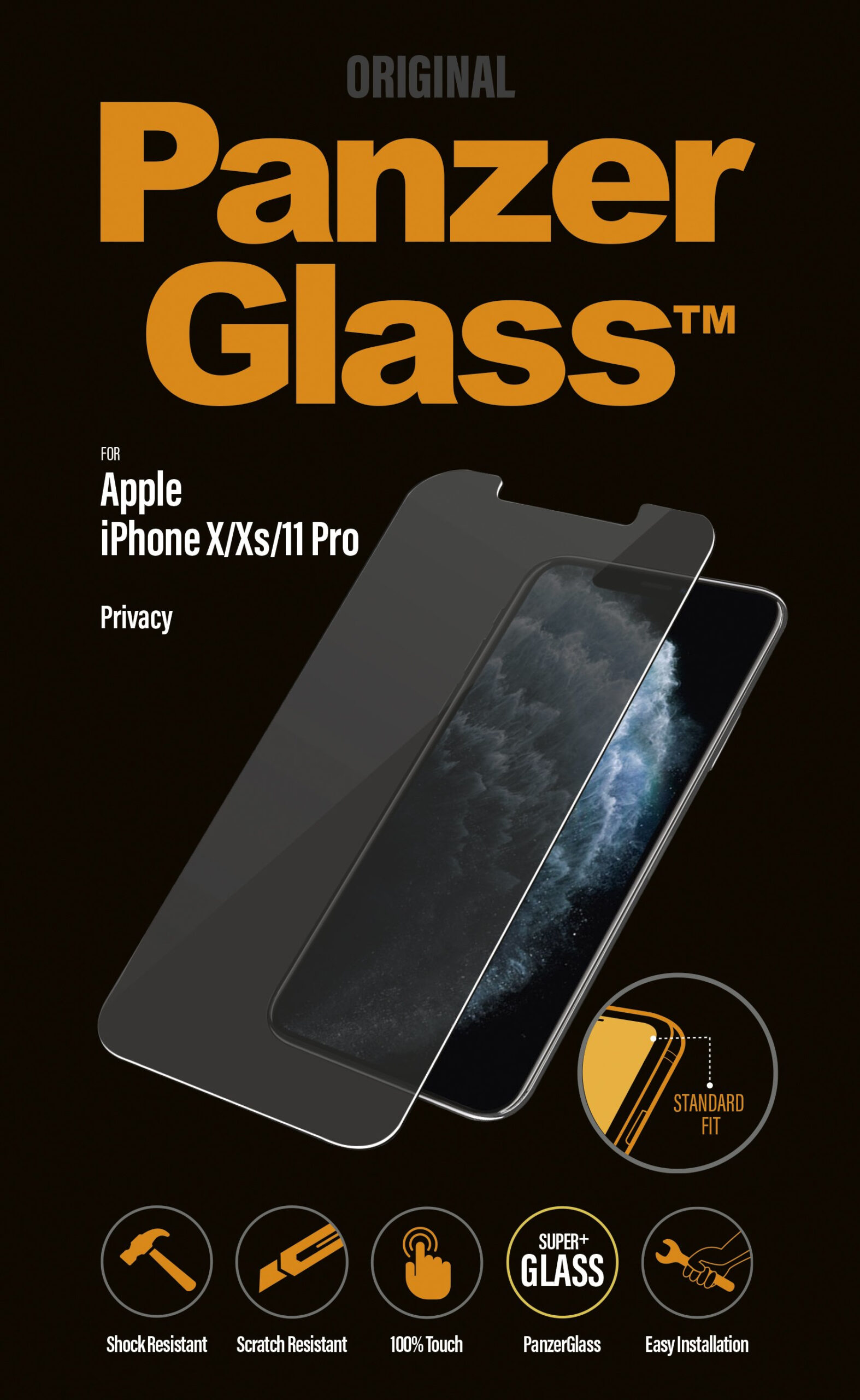 PanzerGlass Privacy for Apple iPhone 11 Pro, X, XS (OUTLET)