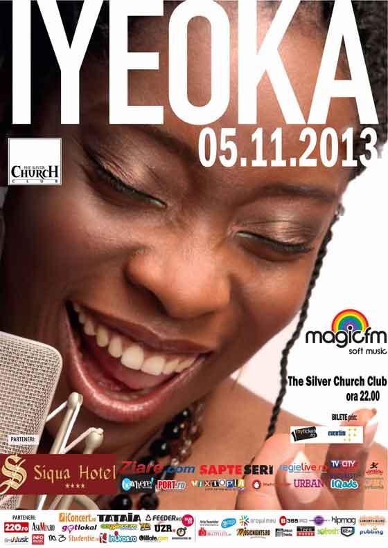 Concertul Iyeoka din Bucuresti va avea loc in 5 noiembrie, in Silver Church Club. La Cluj‑Napoca, Iyeoka va sustine doua concerte in seara de 7 noiembrie: primul la Teatrul National din Cluj, incepand cu ora 19:00, iar al doilea in Diesel Club, de la ora 22:00.
