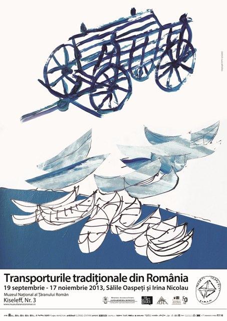 Expozitia Transporturile traditionale din Romania se inscrie in seria evenimentelor dedicate Zilelor Muzeului Taranului (12 – 22 septembrie 2013), urmand a fi deschisa in ziua de 19 septembrie 2013, ora 18.00, in salile Oaspeti si Irina Nicolau.
