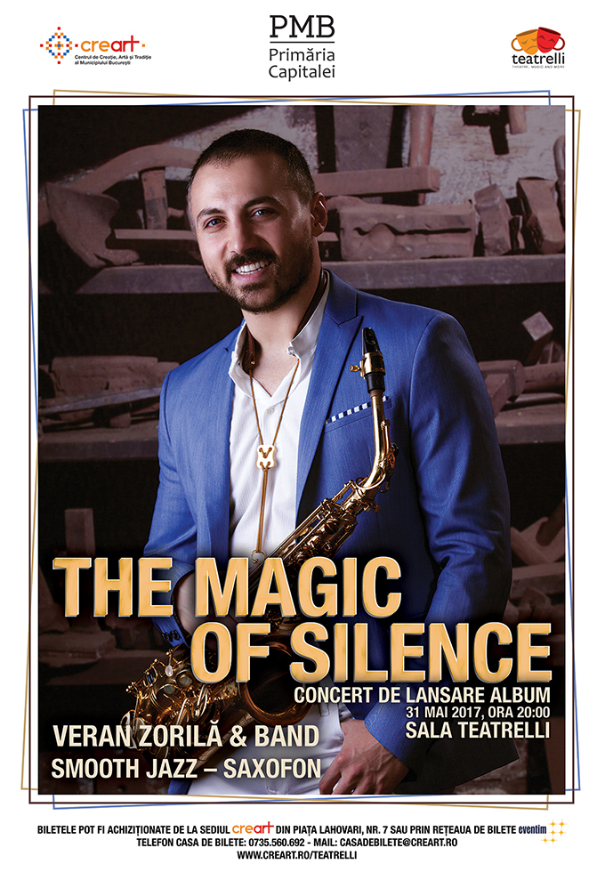 "Veran Zorila: lansare album ""The Magic of Silence"""
