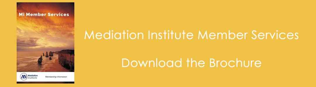 The Mediation Institute Member Services Brochure