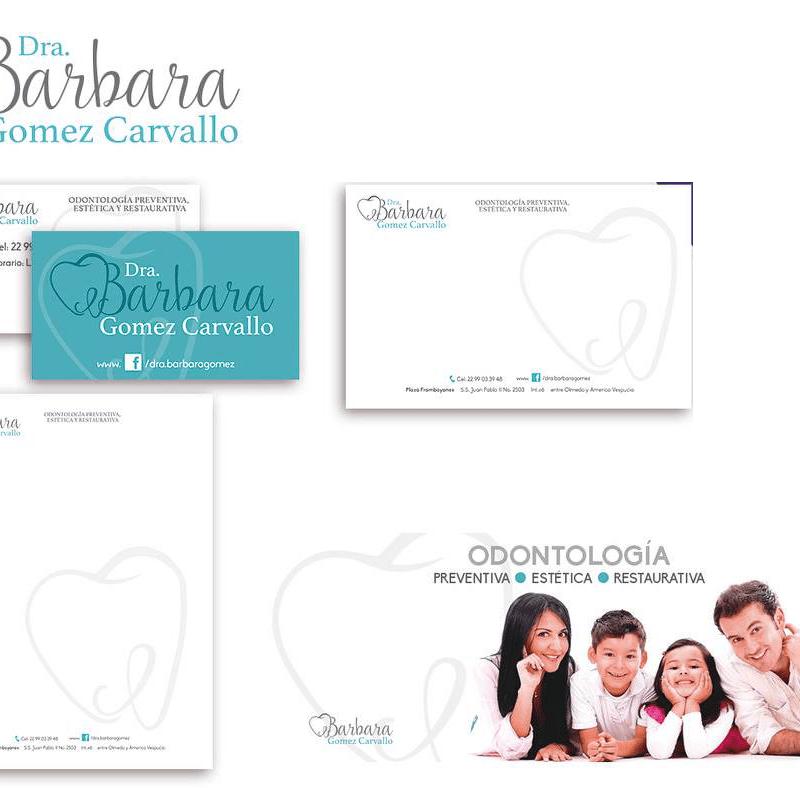 logo y papelería para Dra Barbara Carvallo Odontología Integral