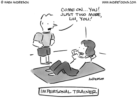 Physical Trainer Cartoon