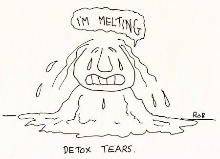 Detox Tears Cartoon
