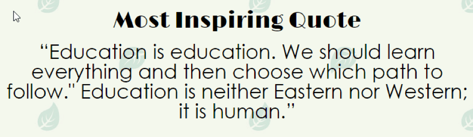 I am Malala Most Inspiring Quote
