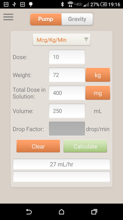 IV Infusion Calculator App