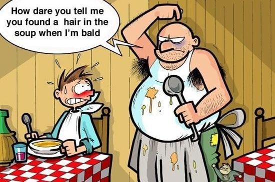 Hair Fall Cartoon