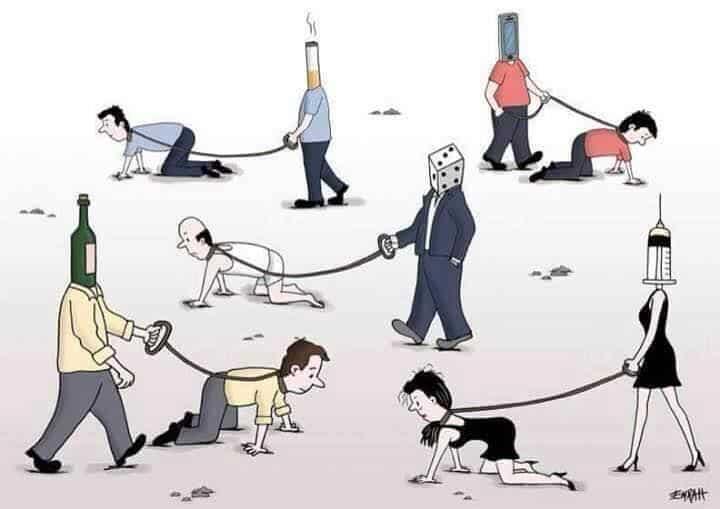 Addiction Cartoon