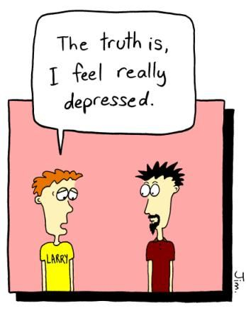 Cartoon about Depression