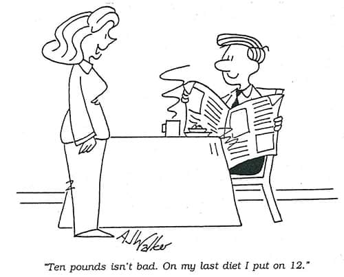 Diet and Weight Loss Cartoon