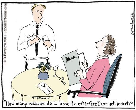 Healthy Diet Funny Cartoon