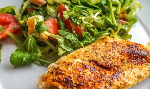 chicken, mustard and avocado salad