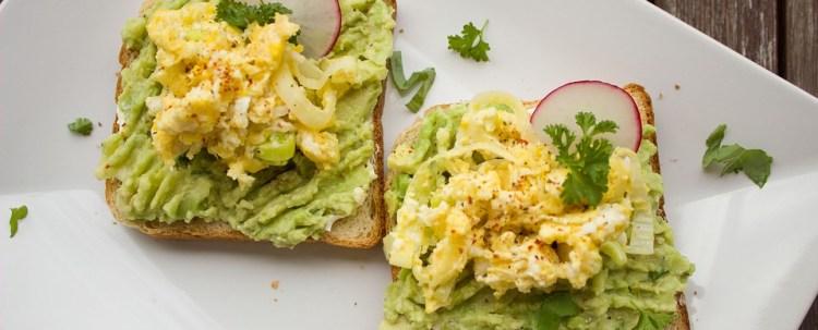 avocado and rye toast