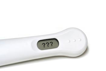 Pregnancy test device with ??? in the result window