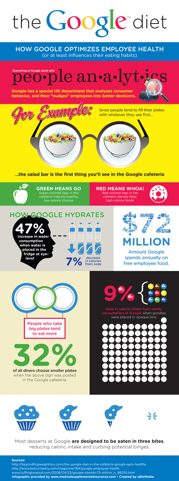 Google Diet Infographic