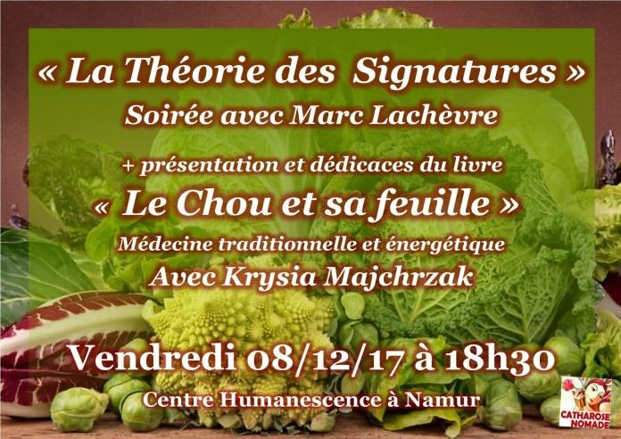 [Conférence à Namur] Le Chou et sa feuille