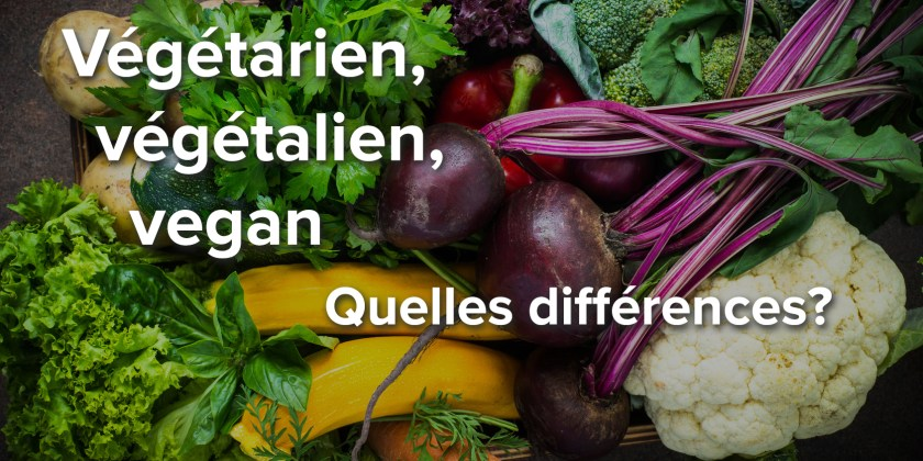 Végétarien, végétalien, vegan