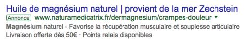 Huile de magnésium naturel