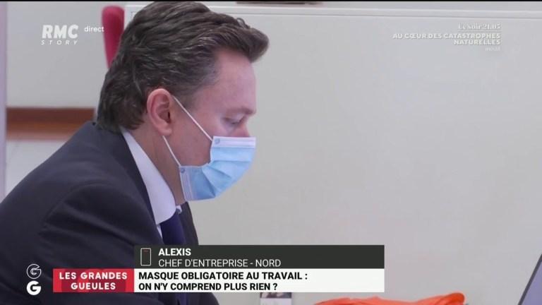 «Si mes employés ne veulent pas porter le masque pas de problème» dit Alexis, chef d'entreprise