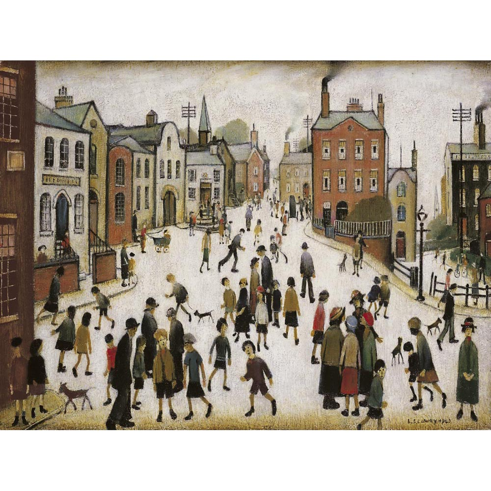 A Village Square By Laurence Stephen Lowry