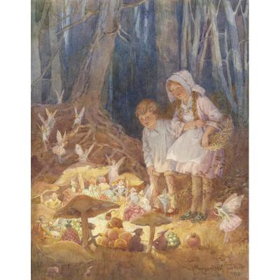 Margaret Tarrant The Fairies Market