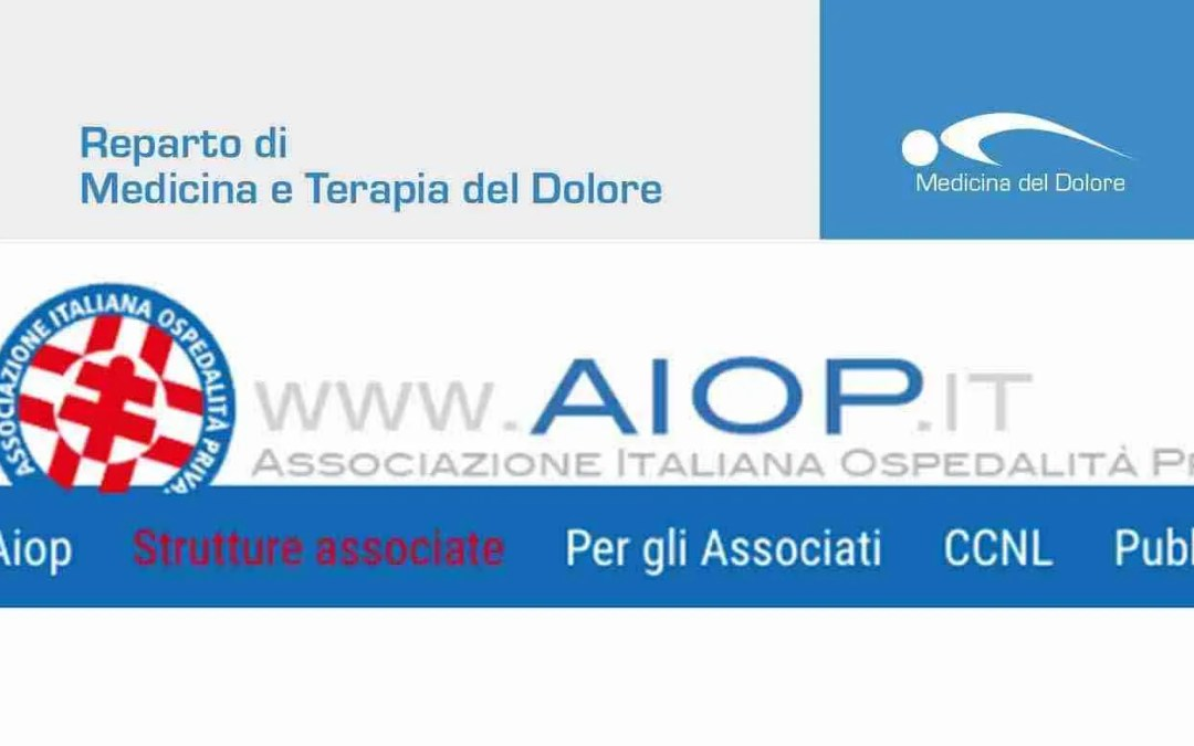 Il reparto di Medicina del Dolore all'interno dell'AIOP