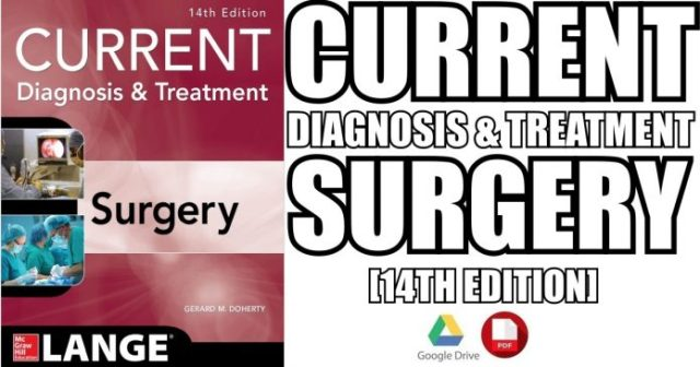 Current Diagnosis and Treatment Surgery 14th Edition PDF