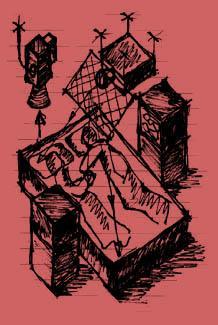 Paul Sermon «Telematic Dreaming» | Telematic Dreaming (sketch)