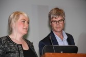 """""""LILLETINGET"""": Dagfinn Tvedt og Anna Stina Lejdelin frå Lillestrøm VGS snakka om """"Lilletinget"""", eit spenande opplegg knytt til grunnlovsjubileet."""