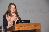 TV2 skole-journalist Silje Thalberg, orienterer om tv-nyheter som undervisningsressurs