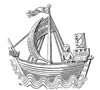 Medieval depiction of a cog on a seal of Stralsund