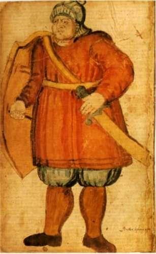 17th century image of Grettir